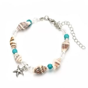 Seashell Starfish Charm Beads Anklet